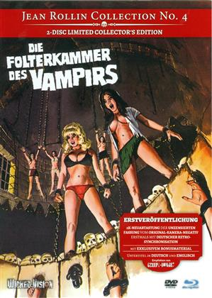 Die Folterkammer des Vampirs (1971) (Cover A, Jean Rollin Collection, Collector's Edition, Limited Edition, Mediabook, Uncut, Blu-ray + DVD)