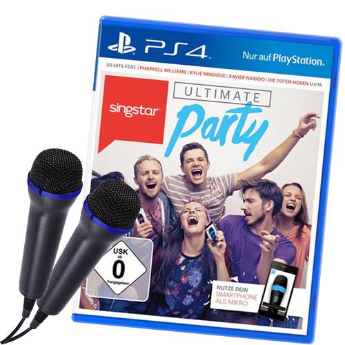 Bild Singstar Ultimate Party - Bundle 2 Micros (Kabel)