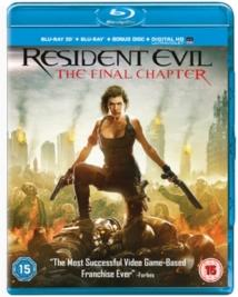 Resident Evil 6 - The Final Chapter (2016) (Blu-ray 3D + Blu-ray)