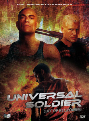 Universal Soldier - Day of Reckoning (2012) (Cover B, Collector's Edition, Edizione Limitata, Mediabook, Uncut, Blu-ray 3D (+2D) + DVD)
