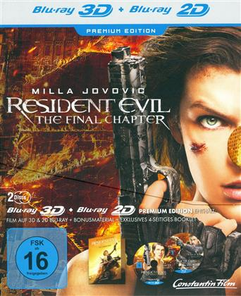 Resident Evil 6 - The Final Chapter (2016) (Premium Edition, Blu-ray 3D + Blu-ray)