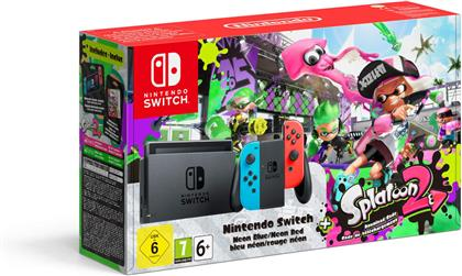 Nintendo Switch-Konsole Neon-Blau / Neon-Rot + Splatoon 2 (Limited Edition)