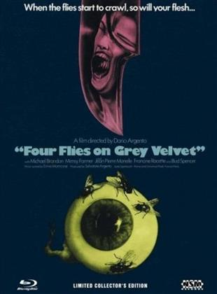Four Flies on Grey Velvet (1971) (Cover B, Collector's Edition, Limited Edition, Mediabook, Uncut, Blu-ray + 2 DVDs)