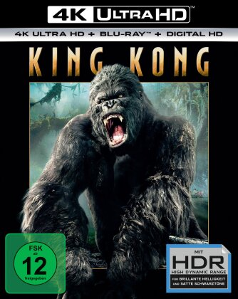 King Kong (2005) (Extended Edition, Kinoversion, 4K Ultra HD + Blu-ray)