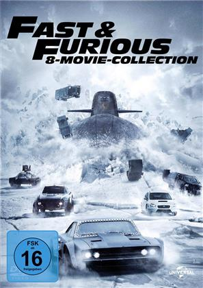 Fast & Furious 1-8 - 8-Movie Collection (8 DVDs)