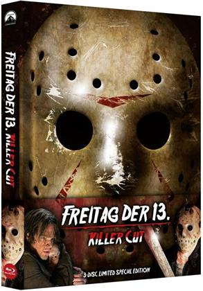 Freitag der 13. - Killer Cut (2009) (Limited Edition, Mediabook, Special Edition, Uncut, Blu-ray + 2 DVDs)