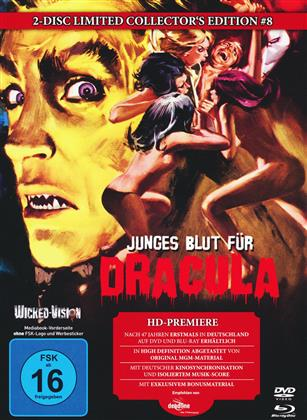 Junges Blut für Dracula (1970) (Cover C, Collector's Edition, Limited Edition, Mediabook, Uncut, Blu-ray + DVD)
