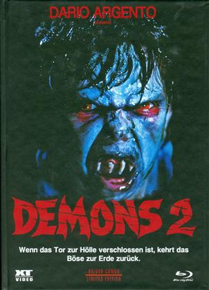 Demons 2 (1986) (Cover B, Limited Edition, Mediabook, Remastered, Special Edition, Uncut, Blu-ray + DVD)