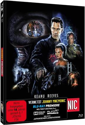 Vernetzt - Johnny Mnemonic (1995) (Cover B, Limited Edition, Mediabook, Uncut, 2 Blu-rays)