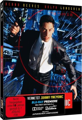 Johnny Mnemonic - Vernetzt (1995) (Cover C, Limited Edition, Mediabook, Uncut, 2 Blu-rays)