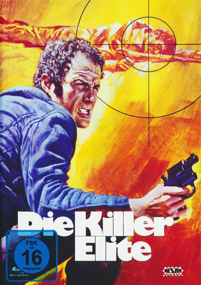 Die Killer Elite (1975) (Cover C, Limited Edition, Mediabook, Uncut, Blu-ray + DVD)
