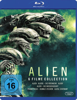 Alien - 6 Filme Collection (6 Blu-rays)