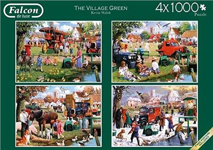 The Village Green - 4x 1000 Teile Puzzle