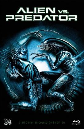 Alien vs. Predator (2004) (Grosse Hartbox, Cover C, Collector's Edition, Extended Edition, Limited Edition, Uncut, Blu-ray + 2 DVDs)