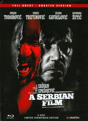 A Serbian Film (2010) (Limited Edition, Mediabook, Uncut, Unrated, Blu-ray + DVD + CD)