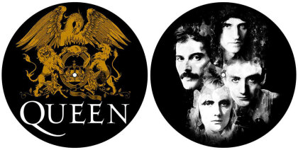 Queen Slipmat Set - Crest & Faces