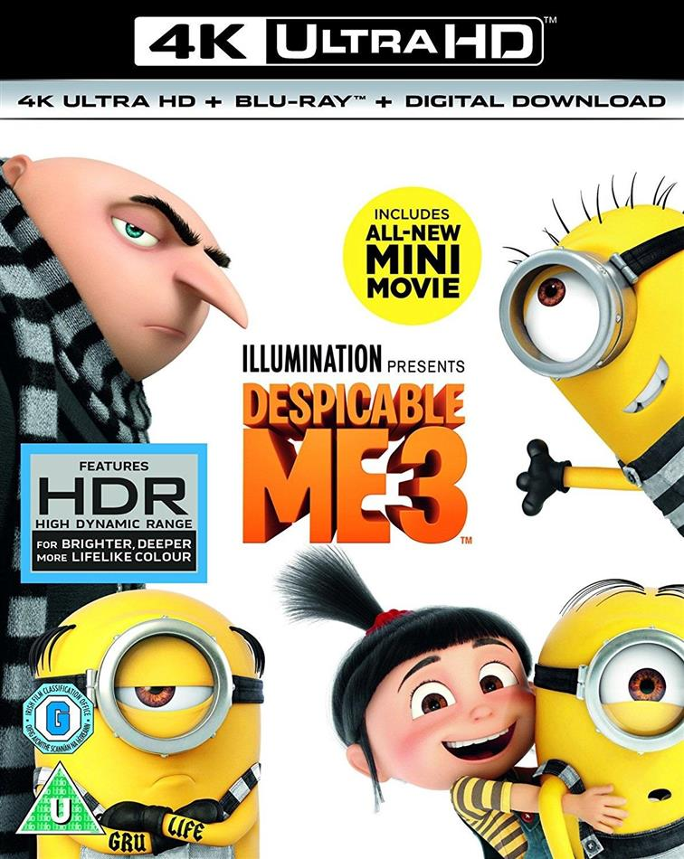 Despicable Me 3 (2017) (4K Ultra HD + Blu-ray)