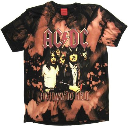 AC/DC - Highway To Hell T-Shirt (Bleach)