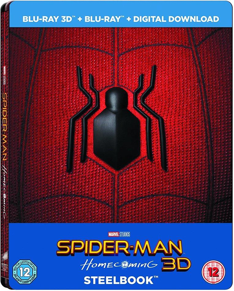 Spider-Man: Homecoming (2017) (Steelbook, Blu-ray 3D + Blu-ray)