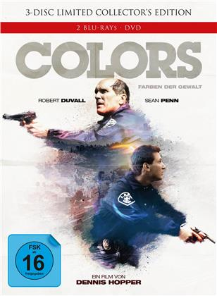 Colors - Farben der Gewalt (1988) (Cover A, Extended Edition, Kinoversion, Limited Edition, Mediabook, Uncut, 2 Blu-rays + DVD)