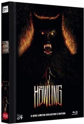 The Howling (1981) (Cover C, Collector's Edition, Limited Edition, Mediabook, Uncut, Blu-ray + 2 DVDs)