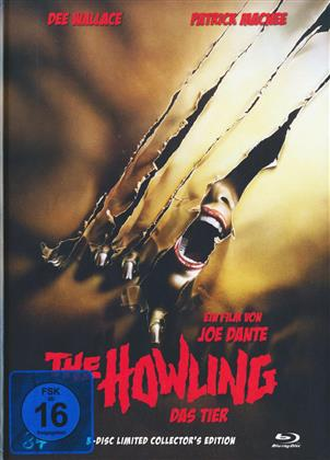 The Howling - Das Tier (1981) (Cover A, Collector's Edition, Limited Edition, Mediabook, Uncut, Blu-ray + 2 DVDs)