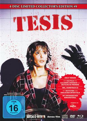 Tesis (1996) (Cover B, Limited Edition, Mediabook, Uncut, Blu-ray + 2 DVDs + CD)