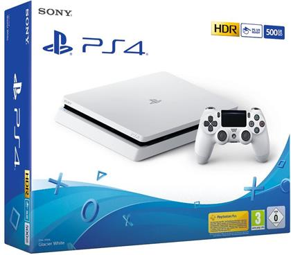 Sony PlayStation 4 Console 500 GB + Controller - glacier white