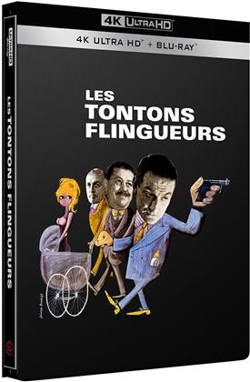 Les Tontons flingueurs (1963) (s/w, Limited Edition, Steelbook, 4K Ultra HD + Blu-ray)