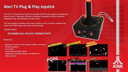 Atari Retro TV Joystick Plug & Play