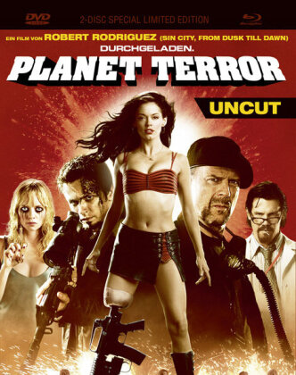 Planet Terror (2007) (Limited Edition, Mediabook, Special Edition, Uncut, Blu-ray + DVD)