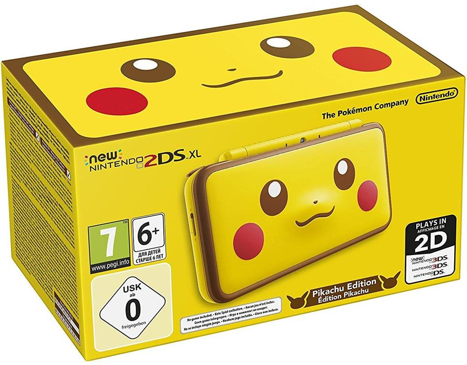New 2DS XL Console (Pikachu Edition)
