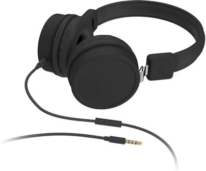 KitSound Brooklyn Wired On Ear Headphones - black