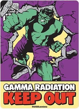 Hulk Blechschild - Gamma Radiation Keep Out
