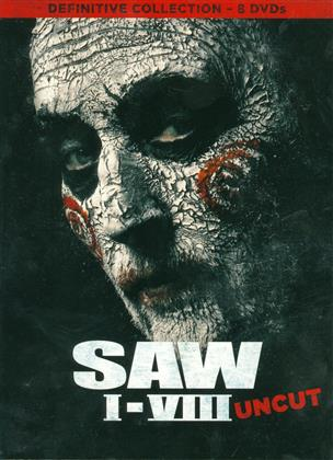 Saw 1-8 - Definitive Collection (Uncut, 8 DVDs)
