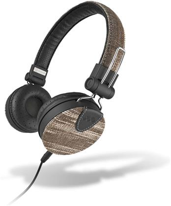 MySound: Speak Denim Stereo Headphones w/ Microphone - black