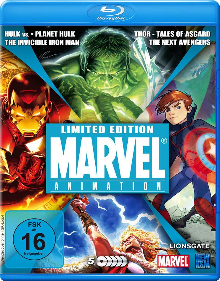 Marvel Animation (Limited Edition, 5 Blu-rays)