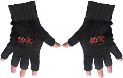 AC/DC Unisex Fingerless Gloves - Classic Red Logo