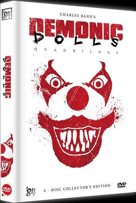 Demonic Dolls 1-4 - Quadrilogy (White Edition, Collector's Edition, Limited Edition, Mediabook, Uncut, 4 DVDs)