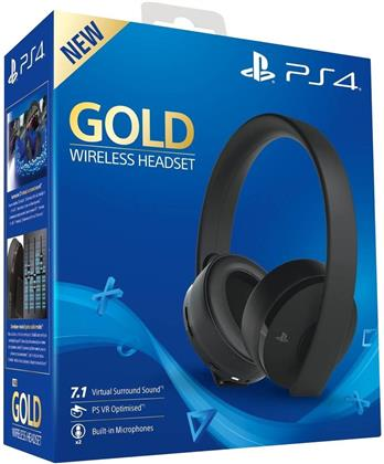 Playstation 4 Headset original Gold Edition black Sony 7.1. VR optimiert