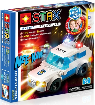 STAX® Hybrid: Flashing Police Car - LEGO®-kompatibel