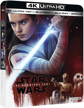 Star Wars - Episode 8 - Les derniers Jedi (2017) (Steelbook, 4K Ultra HD + 2 Blu-rays)