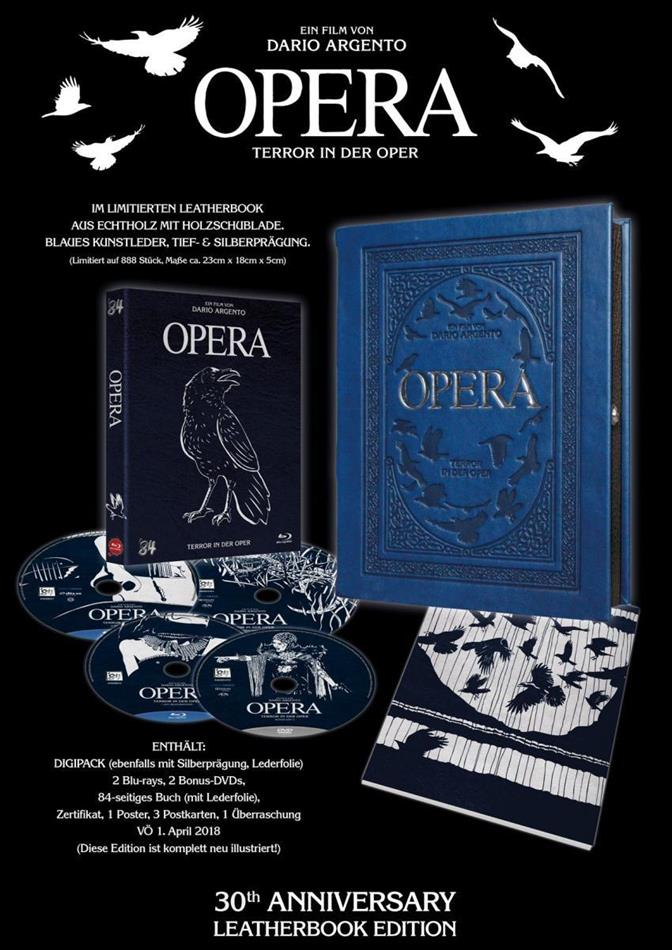 Opera - Terror in der Oper (1987) (Leatherbook, Digipack, 30th Anniversary Edition, Limited Edition, Remastered, 2 Blu-rays + 2 DVDs)
