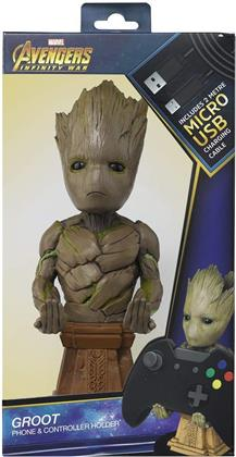 Cable Guy: Groot Marvel (Phone & Controller Holder inkl. 3m Ladekabel)