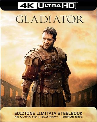 Gladiator (2000) (Kinoversion, Limited Edition, Langfassung, Steelbook, 4K Ultra HD + 2 Blu-rays)
