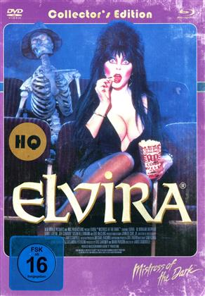 Elvira - Mistress of the Dark (1988) (Cover Retro, Collector's Edition, Limited Edition, Mediabook, Remastered, Uncut, Blu-ray + DVD)