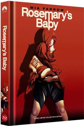 Rosemary's Baby (1968) (Cover C, Collector's Edition, Limited Edition, Mediabook, Uncut, Blu-ray + DVD)