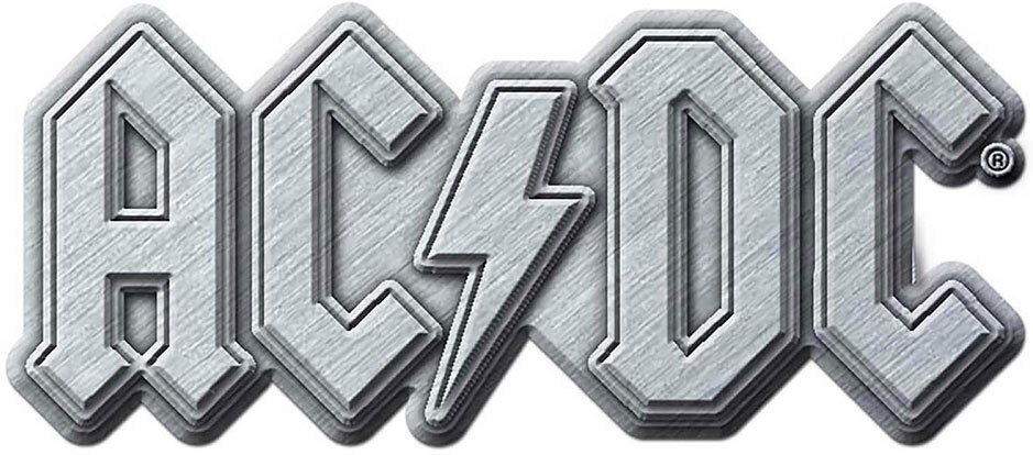 AC/DC - Metal Logo Pin Badge