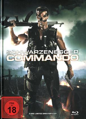 Commando (1985) (Cover B, Collector's Edition, Director's Cut, Limited Edition, Mediabook, Uncut, Blu-ray + DVD)