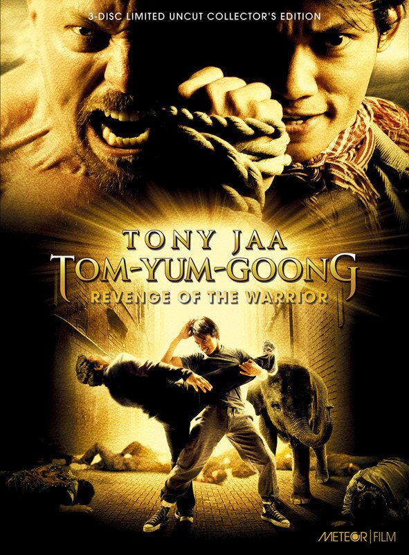 Tom-Yum-Goong - Revenge of the Warrior (2005) (Cover B, Collector's Edition, Limited Edition, Mediabook, Uncut, Blu-ray + 2 DVDs)